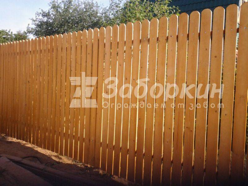 Деревянный забор своими руками - пошаговая инструкция